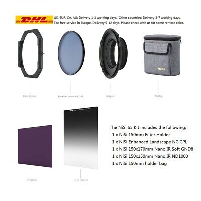 NISI S5 150mm Filter Holder+ND1000+Soft GND8 For 105/95/82mm Lens with NC CPL