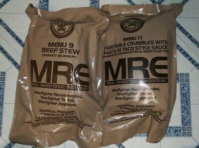 Usa Military Individual Mre Meals Ready To Eat Lot Of 2