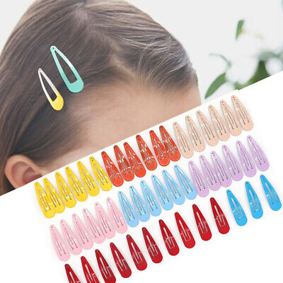 100pcs Girls Snap Hair Clips for Hair Clip Pins BB Hairpin Color Metal Barrettes