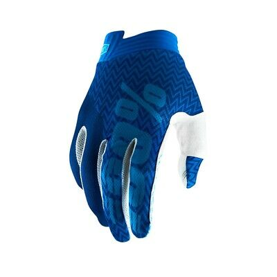 100% Youth iTrack Gloves Kinder Motocross Enduro Offroad Handschuhe blau/weiß