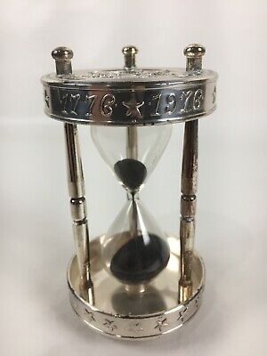 Vtg FB Rogers BiCentennial 1776-1976 Silver Plated Hour Glass 3 Minute Timer A11