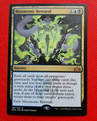 x4 MTG Mnemonic Betrayal Gold Guilds of Ravnica NM