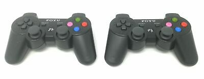 2 X Joystick Playstation 3 Joypad PS3 Wireless Controller Senza Fili Gamepad