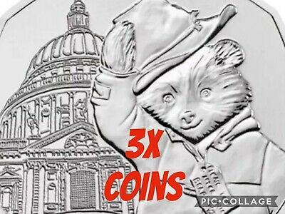 UK Coins X3 2019 Paddington 50p At St Saint Paul Cathedral New UNC From Bags