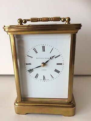 Vintage Matthew Norman Swiss Quality Chiming Carriage Clock. Vgc. Working.
