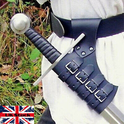Medieval Leather Basic Sword Holder Frog Part Scabbard Weapon Loop Larp Cosplay
