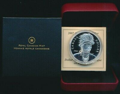 Canada 2007 $1 92.5 Silver Proof Celebrating Thayendanegea Cased Coin