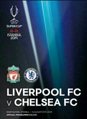 Liverpool FC V Chelsea Super Cup Final 2019 Official match Programme Istanbul