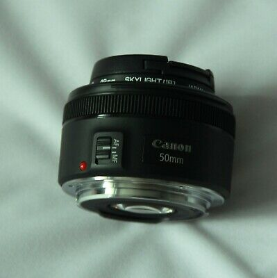 Canon EF 50mm F1.8 STM Lens - Black Excellent condition, Fitted Hoya Skylight