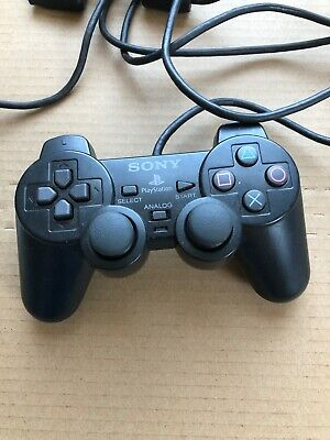 Sony PlayStation 2 Wired Black Analog Controller DualShock 2 -Original/Official