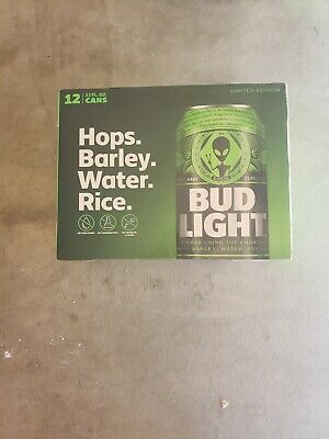 Bud Light Area 51 Green Alien Can 12 Pack BRAND NEW Very Limited Collectors Item