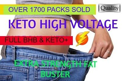 PREMIUM KETO DIET BHB+ Pills ✔ 60 X HVoltage THERMO FAT BURNERS,✔WEIGHT LOSS ✔