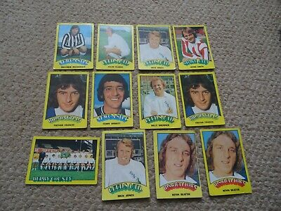 12 A &Bc Footballers Cards Red Back Rub Coin 1974 Cards