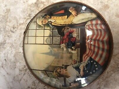 Curved Glass George Washington And Betsy Ross