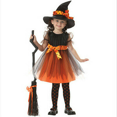Toddler Kids Baby Girls Halloween Clothes Costume Dress Party Dresses Outfit