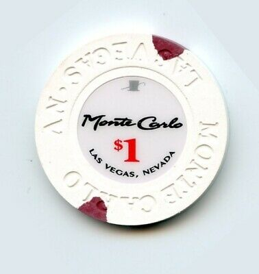 1.00 Chip from the Monte Carlo Casino in Las Vegas Nevada Small Inlay