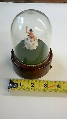 Vintage Swiss Reuge Dancing Ballerina Music Box Musical Automaton, Works!!