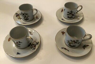 Herend Rothschild Demitasse Cups And Saucers (4)