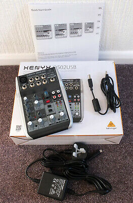 Behringer XENYX Q502USB Mixer and Audio Interface