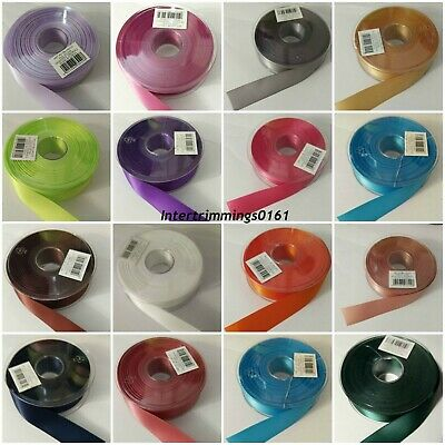 Double Sided Satin Ribbon, 25Mm, 5 Mtrs & 20 Mtrs, Various Colours, Art 1401/25