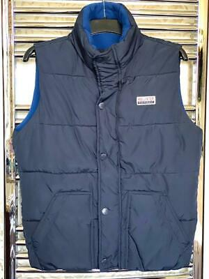 Hollister Gilet Quilted Bodywarmer Size Extra Small Jacket Navy Blue