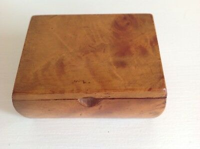 Burr Walnut , Snuff Box, Vintage Collectable