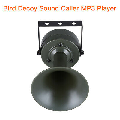 Bird Decoy Sound Caller MP3 Player 35W Speakers Hunting Devices With LCD Display