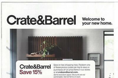 *Crate & Barrel, 15% off Coupon, can be used in store or online, Expire Jan 31