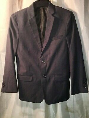 Calvin Klein Big Boys Plain Weave Suit Jacket. Size: 16. Color: Dark Grey
