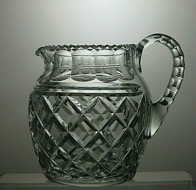 Irish Lead Crystal Hand Cut Water Jug