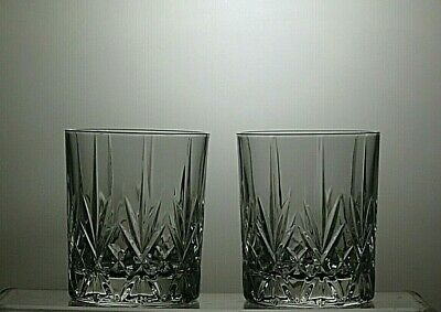 Cut Glass Crystal Whisky Tumblers Set Of 2 Whiskey Tumblers