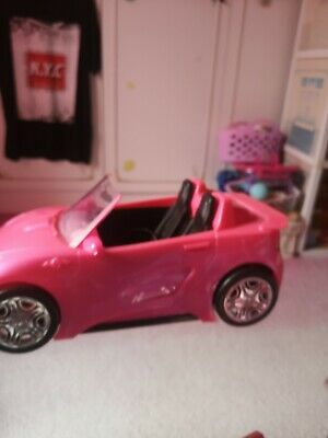 Barbie Glam Convertible Pink Car Doll 2 Seats Shine Vehicle Girls - Brand New