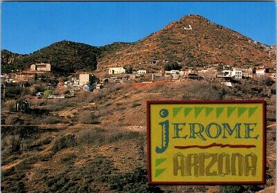 Postcard Jerome Arizona Gold Mine Ghost City Town Artist Community