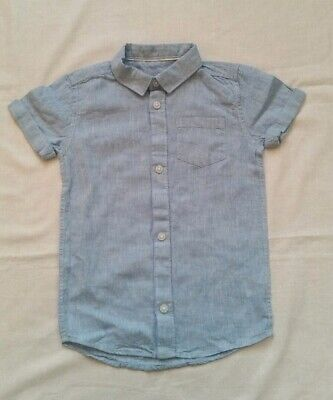 Boys River Island Short Sleeve blue Shirt 2-3 Years