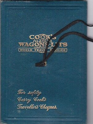 Thomas Cook Wallet & Content Leaflets Card Wagons Lits 1938 World Travel Service
