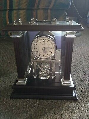 WALLACE SILVERSMITHS wooden mantle clock Working*