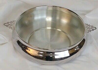 "Vintage The Sheffield Silver Co.1128 3 Quart Casserole Bowl 10 1/2"" Silverplate"