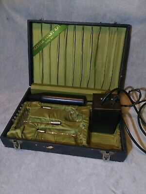 Master Violet Ray 2 #M11 Device Quack Medicine l920's Bakelite w/3 attachments