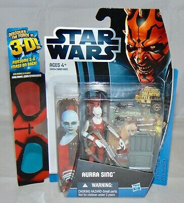 "New 2012 Hasbro Star Wars Discover The Force 3.75"" Aurra Sing Figure Sealed"