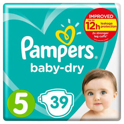 Baby Dry Size 5 Nappies 11-16kg 39 Pack