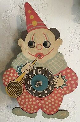 Bachmaier Klemmer - Clown Animated Eyes Wall Clock - West Germany