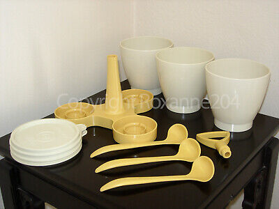 Tupperware Condimate Containers Set **Complete Set With 3 Spoons**