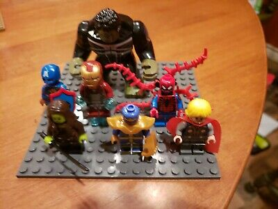 Marvel Avengers minifigures Iron Man Thanos Thor End Game fit lego lot 19