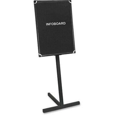"""MasterVision Contemporary Standing Letter Board - 36"""" Height x 24"""" Width - Black"""