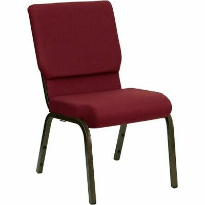 HERCULES Series 18.5''W Burgundy Fabric Stacking Church Chair with 4.25'' Thick