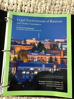 Legal Environment Of Business And Online Commerce Book Washington State BLaw 210