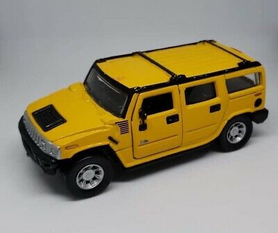"5"" Maisto Hummer H2 SUV 1:46 Diecast Toy Car Model Pull Action YELLOW"