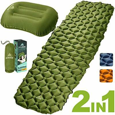 SelfInflating Pads HiHiker Camping Sleeping + Inflatable Travel Pillow - Air Bag