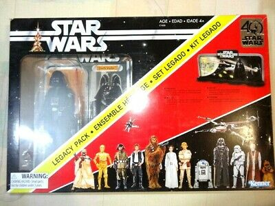 "star wars 40th aniversary black series 6"" legacy pack darth vader new and sealed"