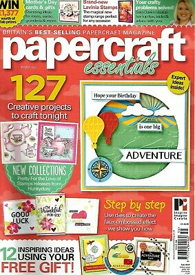 PAPERCRAFT ESSENTIALS MAGAZINE  ISSUE 156. FREE SCENESCAPE COLLECTION STAMPS etc